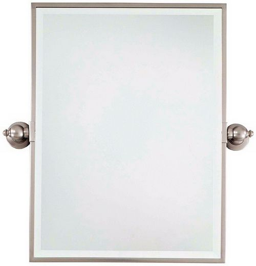Oval bathroom mirrors brushed nickel - Brushed Nickel Framed Mirror 15 Misconception About Mixing Metal In