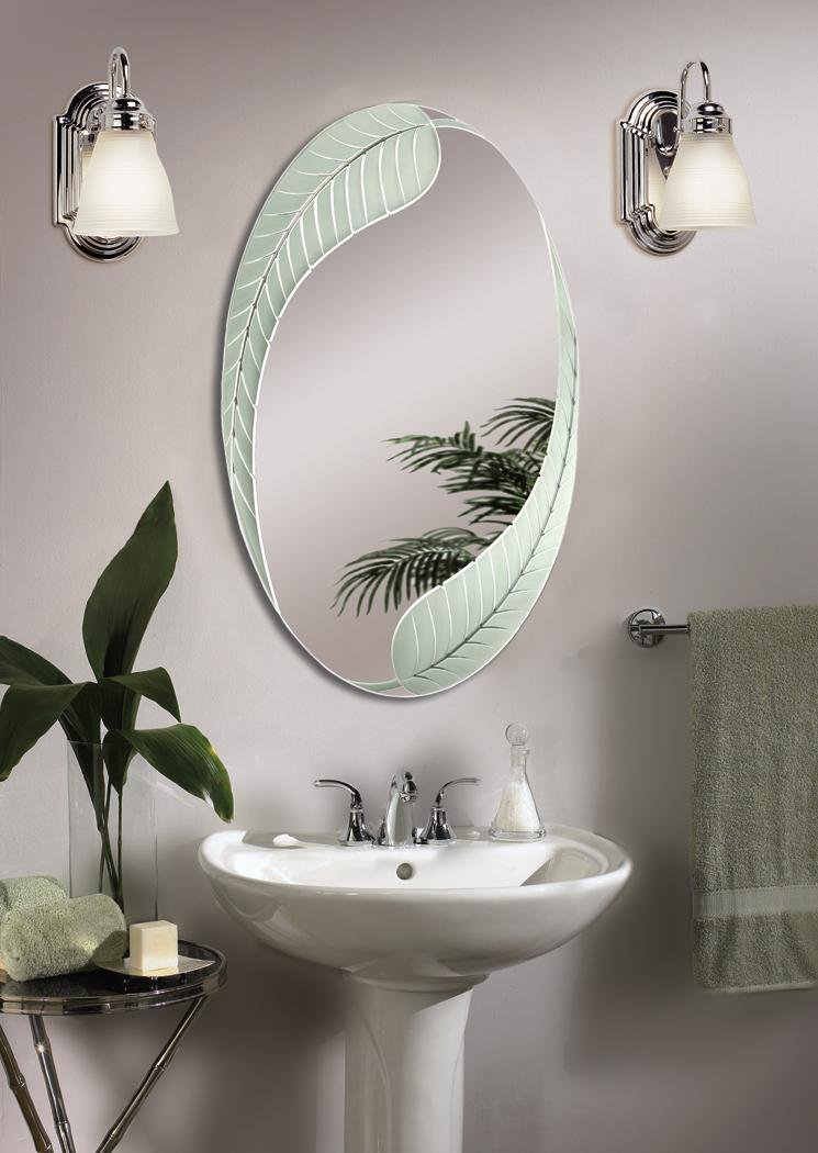 Bathroom Oval Mirrors Photo   1